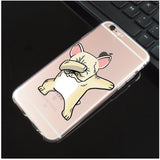 Dabbing Light Tan French Bulldog Transparent Phone Case for iPhone