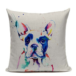Colorful French Bulldog Painting Pillowcase
