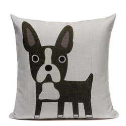 Squared Boston Terrier Pillowcase