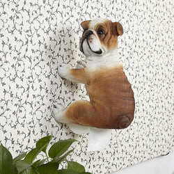 English Bulldog From Behind Toilet Paper Holder