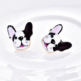 Happy French Bulldog Stud Earrings