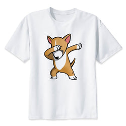 Dabbing Tan Cartoon Bull Terrier Men's T-Shirt
