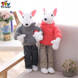 Street Clothes Funny Bull Terrier Plush Stuffed Dogs
