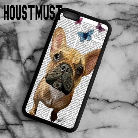 French Bulldog Text Butterfly Phone Case for iPhone and Galaxy
