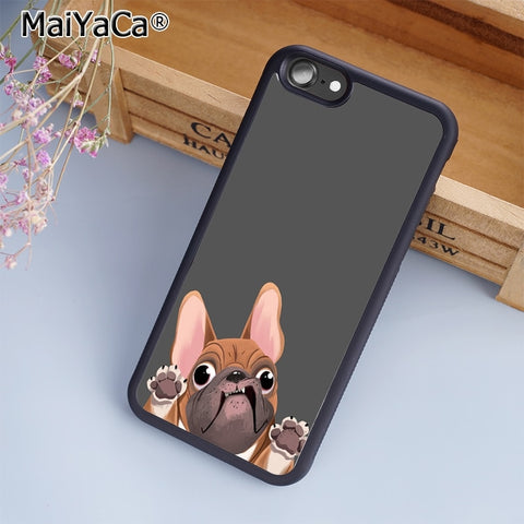 French Bulldog Try To Get Out Phone Case Cartoon Phone Case for iPhone and Galaxy