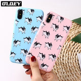 French Bulldog Pattern Style Baby Color Phone Case for iPhone