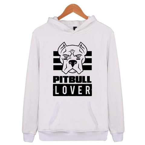 Pitbull Lover Outline Men's Hoodie