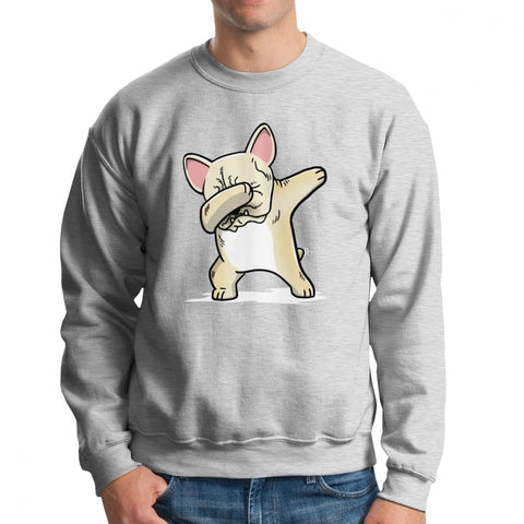 Dabbing Light Tan French Bulldog Men's Sweatshirt