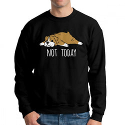 Not Today English Bulldog Men's Sweatshirt