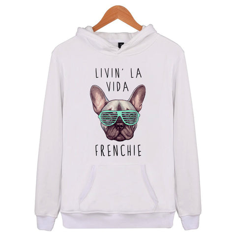 Livin' La Vida Frenchie French Bulldog Hoodie