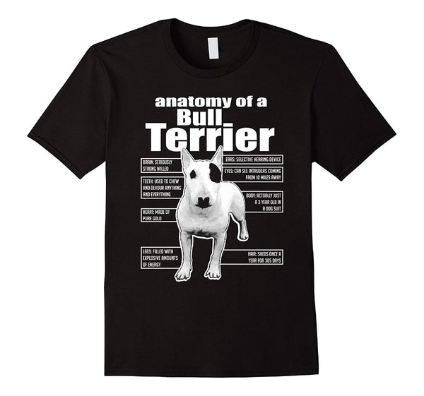 Anatomy Of A Bull Terrier Men's T-Shirts