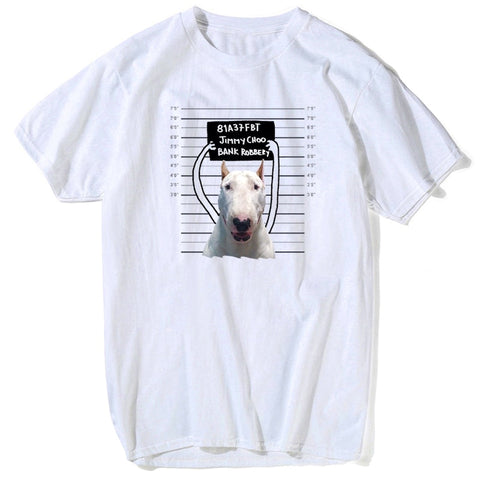 Bull Terrier Bank Robbery Mug Shot T-Shirt