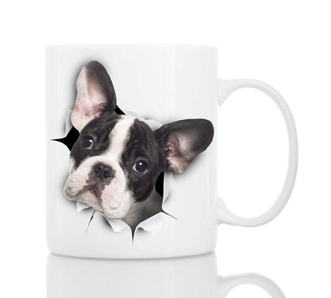 French Bulldog Stick Head Out Coffee Mug
