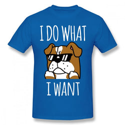 I Do What I Want English Bulldog Men's T-Shirt