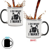 I Do What I Want French Bulldog Heat Color Changing Coffee Mug