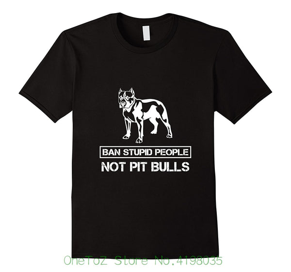 Ban Stupid People Not Pit Bulls Men's T-Shirt