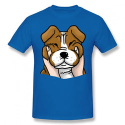 Chubby Cheeks English Bulldog Men's T-Shirt