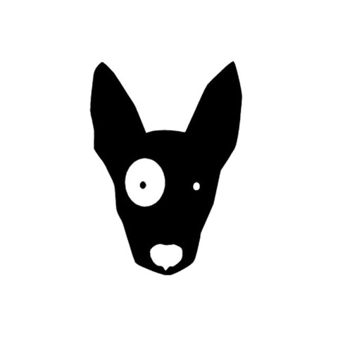 Black Bull Terrier Silhouette White Patch Small Sticker