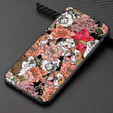 English Bulldog in Flowers Pattern Phone Case for iPhone