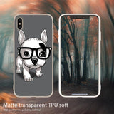 Cute French Bulldog Puppy With Big Glasses Phone Case for iPhone