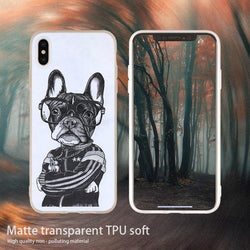 Hip Hop French Bulldog Folded Arms Phone Case for iPhone