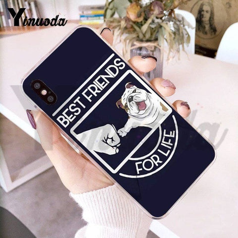 Best Friends for Life English Bulldog Phone Case for iPhone