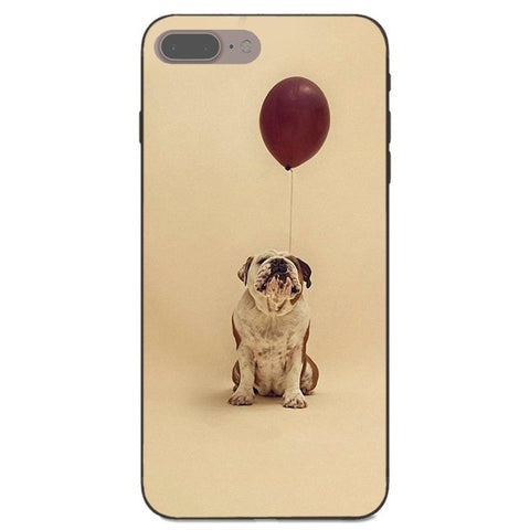English Bulldog Looking Balloon Light Brown Phone Case for iPhone