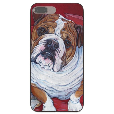 Side Look English Bulldog Detailed Painting Phone Case for iPhone