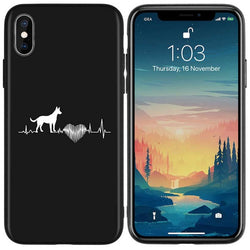 Bull Terrier Heart Beat Pulse Phone Case for iPhone