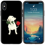Bull Terrier Red Rose Phone Case for iPhone