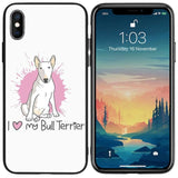 I Love My Bull Terrier Pink Phone Case for iPhone