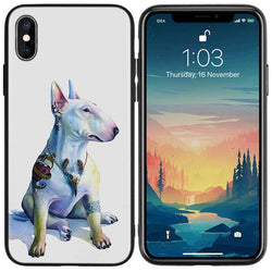 Bull Terrier Tattoo Earrings Phone Case for iPhone