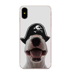Bull Terrier Pirate Phone Case for iPhone