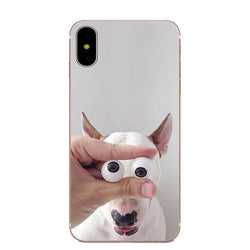 Bull Terrier Funny Crazy Eyes Phone Case for iPhone