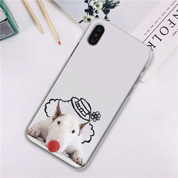 Bull Terrier Clown Red Nose Phone Case for iPhone