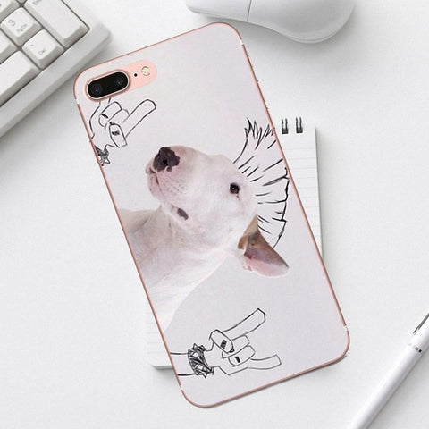 Rock On Punk Bull Terrier Phone Case for iPhone