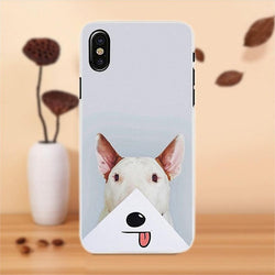 Bull Terrier Sticking Tongue Out Phone Case for iPhone