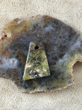 Green Moss Agate - Freefrom Focal Bead