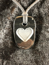 Medalion Basalt Carved Heart Focal Bead