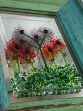 "Framed Fused Glass Flowers - ""Flower Garden"""
