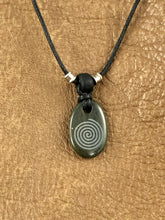Dark Green Maze Stone Pendant Necklace