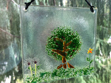 "Fused Glass Sun Catcher - ""Cherry Tree"""