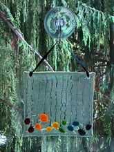 "Fused Glass Sun Catcher - ""Raining Rainbow"""