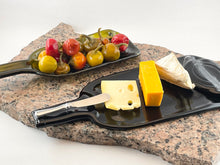 Slumped Wine Bottle Bowl and Tray Set