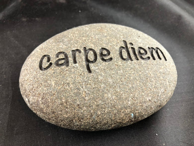 carpe diem - Sand Carved Stone
