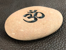 Om (Sandskrit) - Sand Carved Stone
