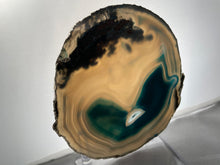 Large Gold Trimmed Brazilian Agate Slice