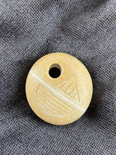 """Lines"" Sand Carved Stone Focal Bead"
