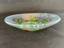 "Medium Fused Clear Glass Bowl/Tray - ""Winter Thistle"""