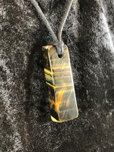 Rectangular Tiger's and Hawk's Eye Focal Bead